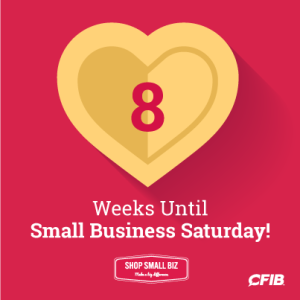 8 weeks until Small Business Saturday!