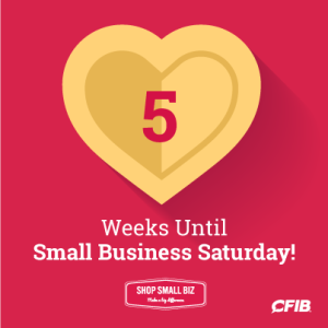 5 weeks until Small Business Saturday!