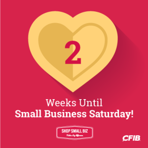 2 weeks until Small Business Saturday!