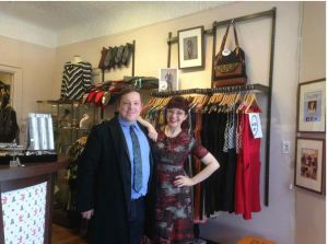 Jesse Kline (CFIB representative) (left) and Laura-Jean Bernhardson (Fresh Collective owner)